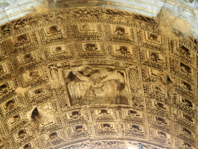 The ceiling of the arch