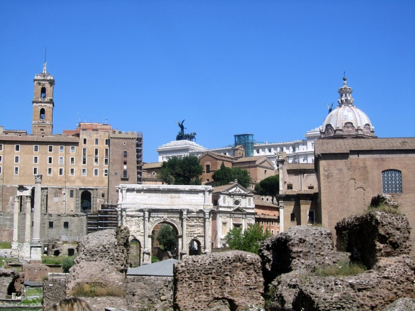 One view overlooking the forum