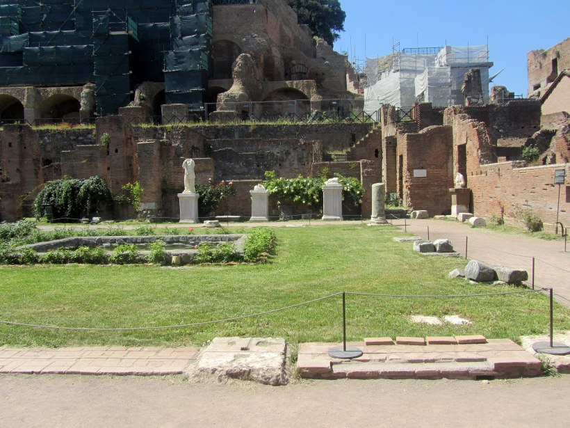 The remains of the House of the Vestal Virgins