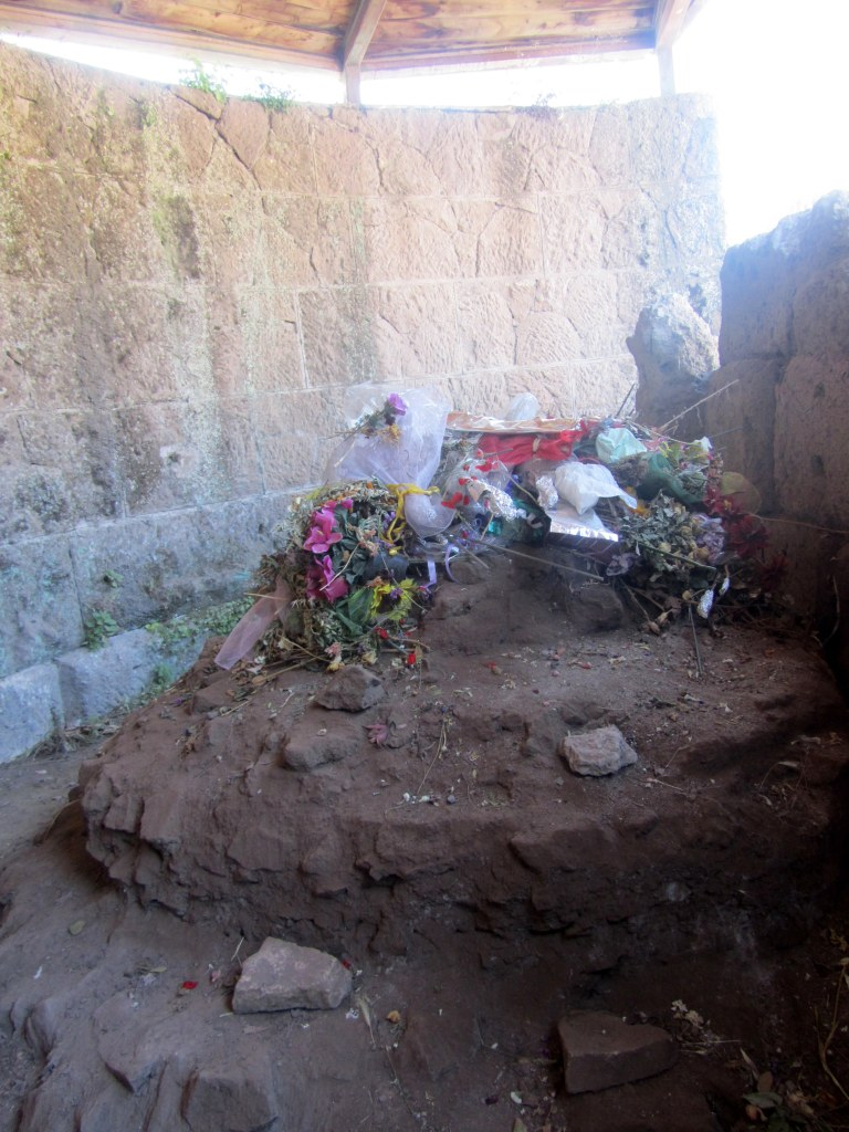 The remains of the altar of Julius Ceasar.