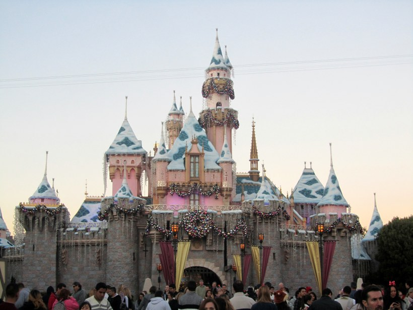 Sleeping Beauty's Castle During The Holidays