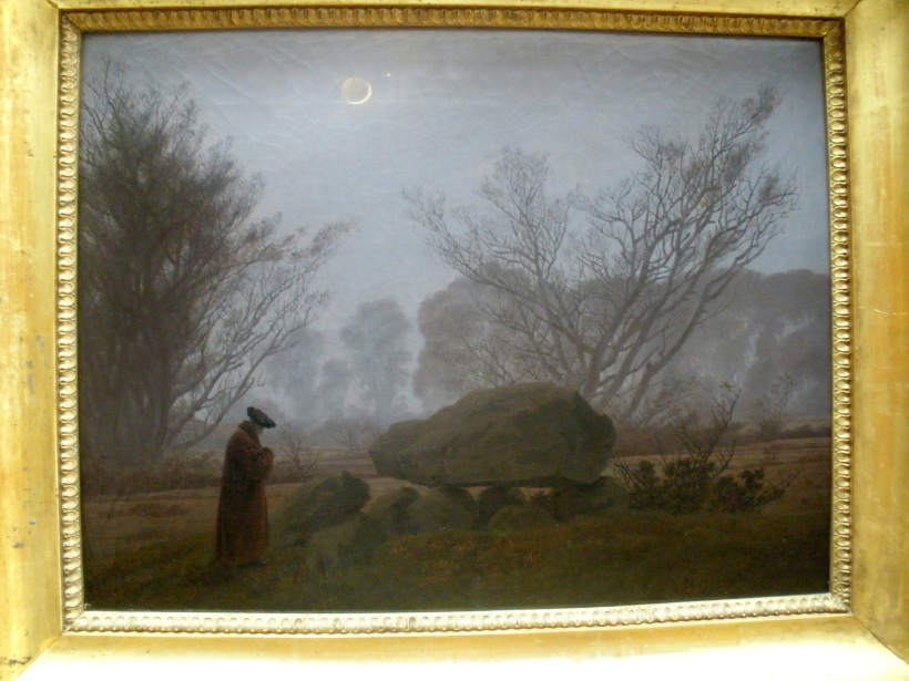 My all time favorite piece of art by Caspar David Friedrich, A Walk At Dusk