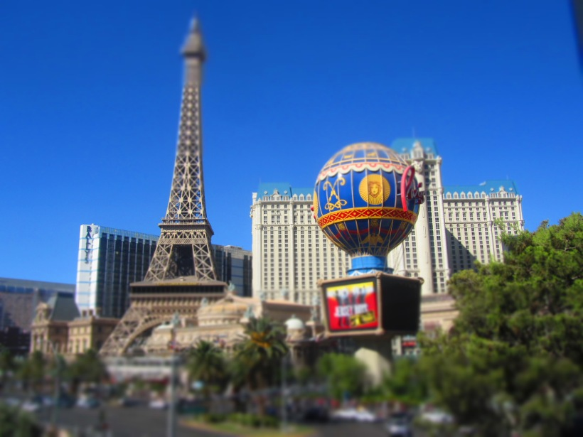 View of the Paris hotel from the Bellagio