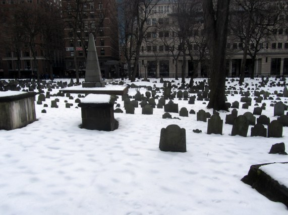 Granary Burying Ground in Boston, MA