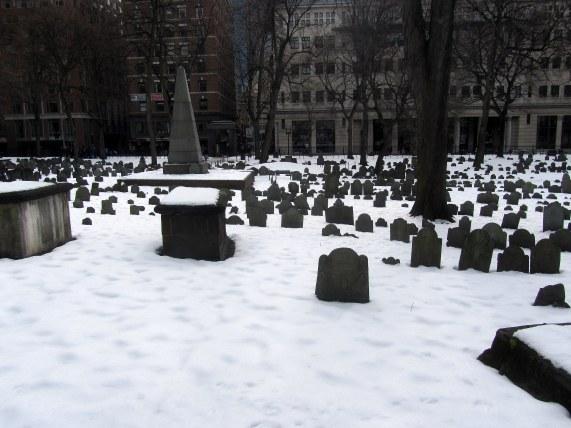 Granary Burying Ground in Boston, MA