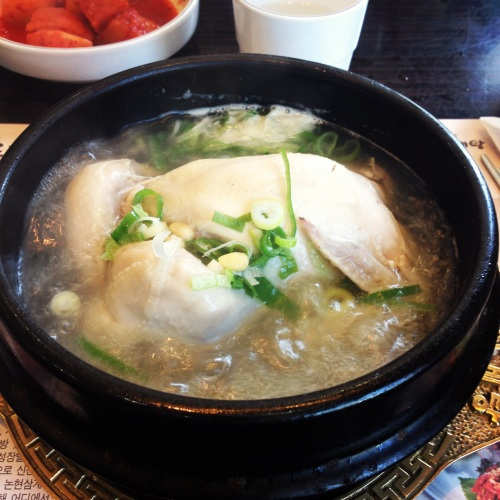 Ginseng chicken soup was our last proper meal in Korea