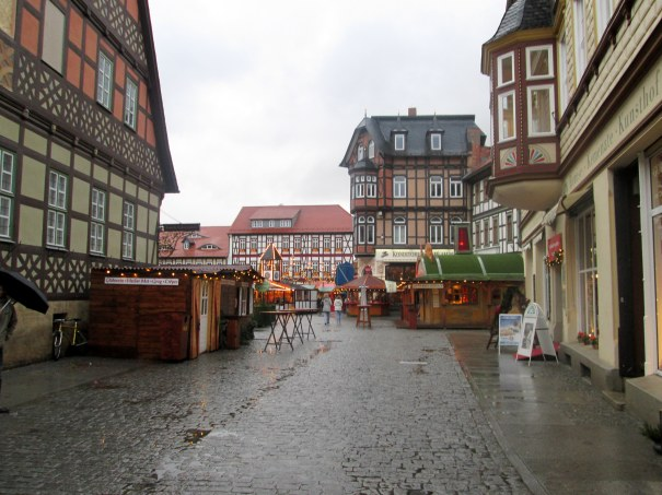 The city square where the christmas market is